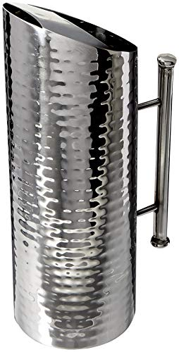 Elegance Hammered Stainless Steel Pitcher, 60-Ounce ()