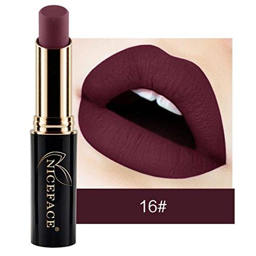 NewKelly Lip Lingerie Matte Liquid Lipstick Waterproof Lip Gloss Makeup 12 Shades (D)