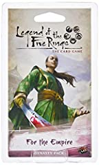 Fantasy Flight Games is proud to present Children of the Empire, anew expansion for Legend of the Five Rings: The Card Game! Childrenof the Empire features a total of 234 new cards, celebrating the era oftranquility brought to Rokugan by the ...