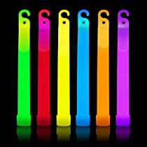 "Glow Sticks Bulk Party Favors - 25 Pc 6"" Industrial Grade Glow Sticks Glow in the Dark Party Supplies in Mixed Neon Party Colors Party Favors for Kids + Adults"