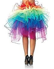 Chris.W Women Layered Rainbow Tutu Skirt Dancing Ruffle Skirt Mini Bubble Skirt Petticoat - One Size Fits Most