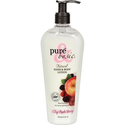 Pure and Basic Natural Bath and Body Lotion Fuji Apple Berry - 12 fl - Fuji Berry Apple Basic