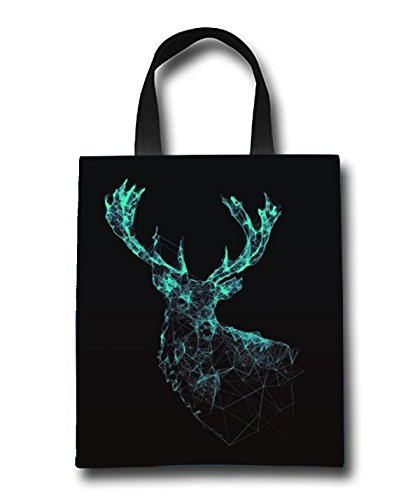 Deer Art Beach Tote Bag - Toy Tote Bag - Large Lightweight Market, Grocery & Picnic by Linhong