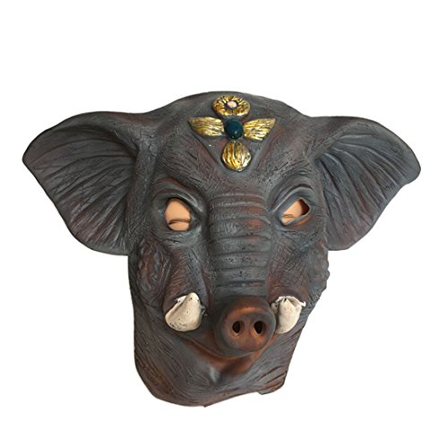 Novelty animals latex headgear Great for Masquerade Parties, Costume Parties, Carnival, Christmas, (Halloween Party Games Apple Bobbing)
