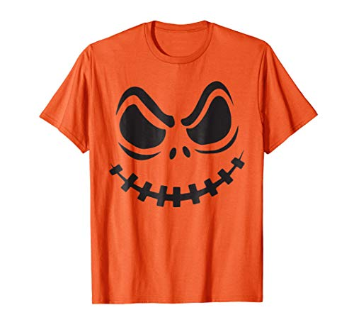Jack O' Lantern Pumpkin Face Halloween Costume Youth T Shirt