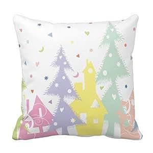 Beautiful Christmas tree Throw Pillow Case Shell Decorative Pillowcase 18 X 18