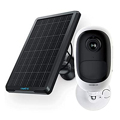 Reolink Argus 2 Rechargeable Battery-Powered & Solar Panel Outdoor Wireless Security Camera 1080p HD Wire-Free 2-Way Audio Starlight Color Night Vision w/PIR Motion Sensor & SD Socket