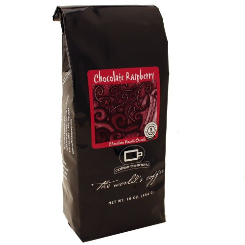 Coffee Beanery Chocolate Raspberry 8 oz. SWP Decaf (Whole Bean) (Coffee Raspberry Decaf)