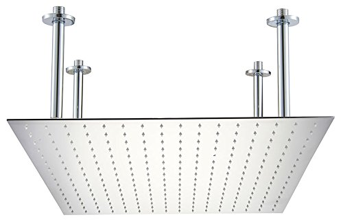 ALFI brand RAIN24S-PSS Square Ultra Thin Rain Shower Head, 2
