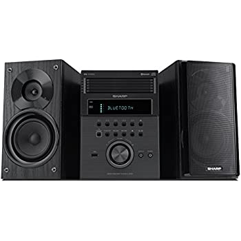Sharp XL BH250 5 Disc Micro Shelf Executive Speaker System With Bluetooth USB Port For MP3 Playback AM FM Audio In Digital Players