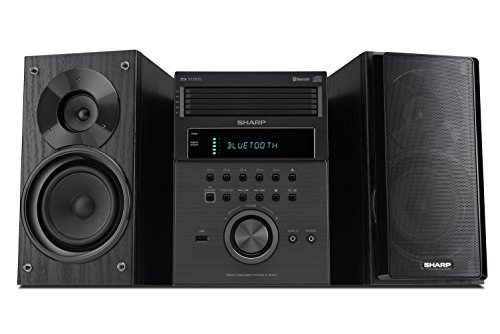 Sharp XL-BH250 Sharp 5-Disc Micro Shelf Executive Speaker System with Bluetooth, USB Port for MP3 Playback, AM/FM, Audio in for Digital Players (System Stereo Home Shelf)