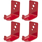 Universal Fire Extinguisher Wall Hook, Mount, Bracket, Hanger for 15 to 20 Lb. Extinguishers (4 Pack)
