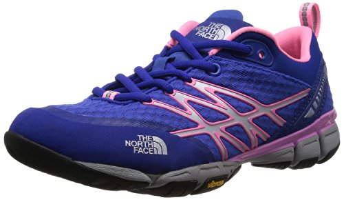 The North Face Ultra Kilowatt Running Shoe - Women's Vibrant Blue/Sugary Pink, 6.0