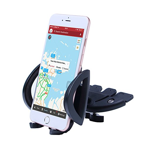Patea 360° Universal CD-Slot Smartphone Mount (Black) - Htc Evo Charging Pad