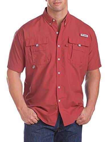 Columbia Sportswear Men's Bahama II Short Sleeve Shirt, Sunset Red, 3X Tall