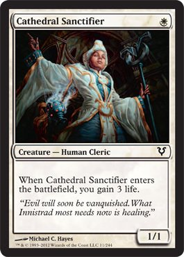 Magic: the Gathering - Cathedral Sanctifier (11) - Avacyn Restored - Foil