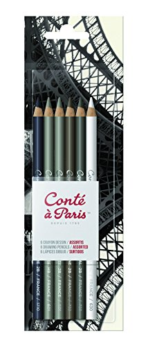 Conté à Paris 6 Count Drawing Pencils Set (Pencil Sampler)