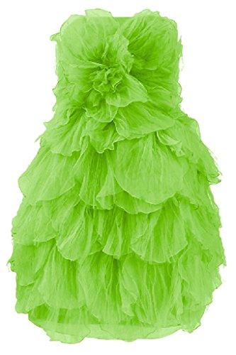 Apple Graceful Avril Strapless Layered Short Homecoming Dress Cocktail Dress Green g8gxawRq