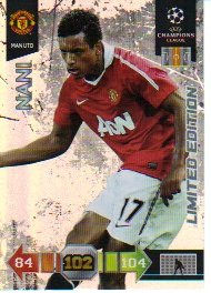 Adrenalyn XL Champions League 2010/11 - LIMITED CARD - Nani [Toy]