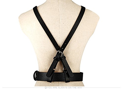 dress all LONFENNENR decoration retro Simple belt fashion ladies vest black harness match black waist strap wBARFqC