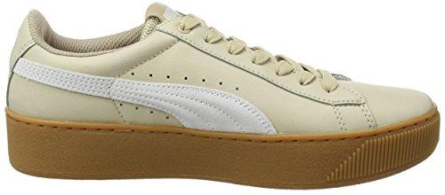 L Donna Beige Puma Vikky Sneaker White Platform safari zHnxAqE8w