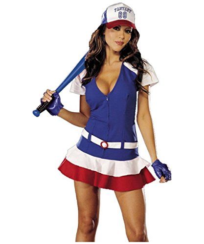 [Women's Fantasy Player (As Shown;Large)] (Baseball Player Costumes Women)