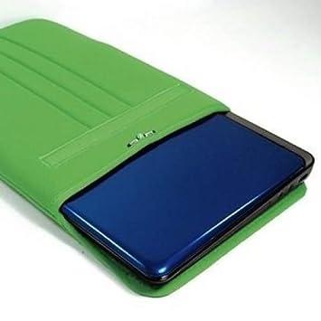"""Cosmos® Verde neopreno/algodón 14.1 """"14"""" pulgadas portátil notebook ordenador funda"""