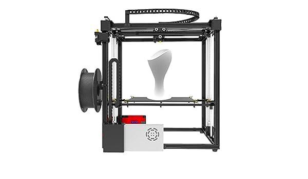 ZHQEUR Pluma de impresión 3D Kits de Impresora 3D X5S DIY Dual Z Axis Tamaño de impresión Grande 330 * 330 * 400 mm con Pantalla LCD12864 Marco de Metal Impresora 3D: Amazon.es: Hogar