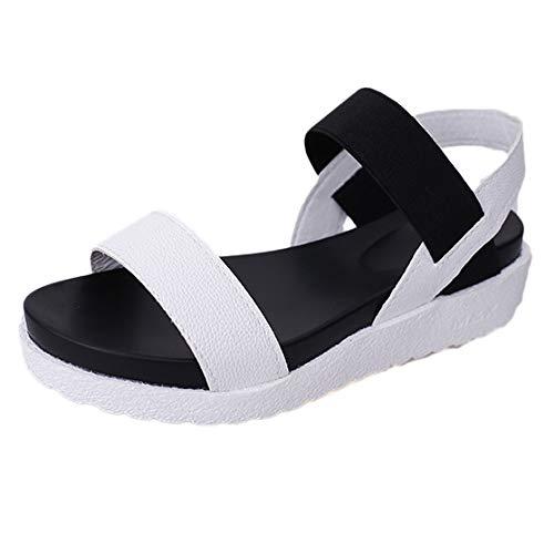 Sandalias Mujer Verano Sandalias Moda Gladiator Roman Zapatos de Mujer Flats Sandalias con Punta Abierta Zapatillas De Verano Casuales Sandalias Planas ...