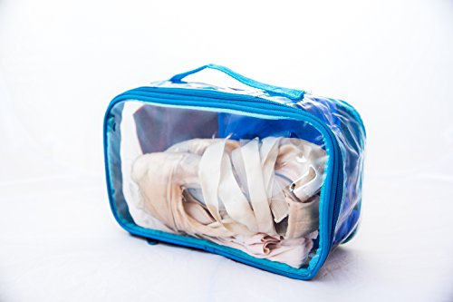 Clear Toiletry Makeup Bag, Travel Case, Cosmetic Organizer PVC Plastic w/Handle