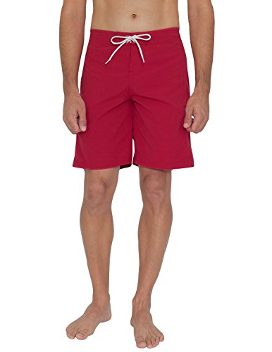 Tuga Men's Lifeguard Board Short, Red, X-Large