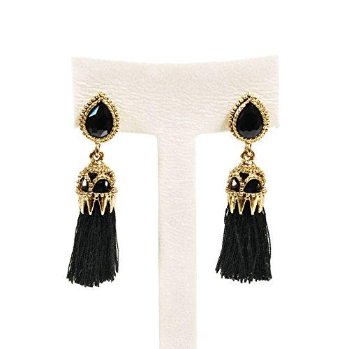 Cuple Small Tassel Dangle Drop Earrings, Teardrop (Cute Cuples)