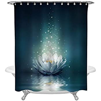 Home & Garden Sporting 3d Lotus Painting 78 Shower Curtain Waterproof Fiber Bathroom Windows Toilet Attractive Fashion