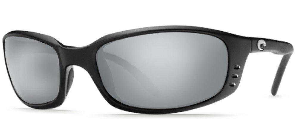 Costa Del Mar Brine Sunglasses, Black, Silver Mirror 580P Lens