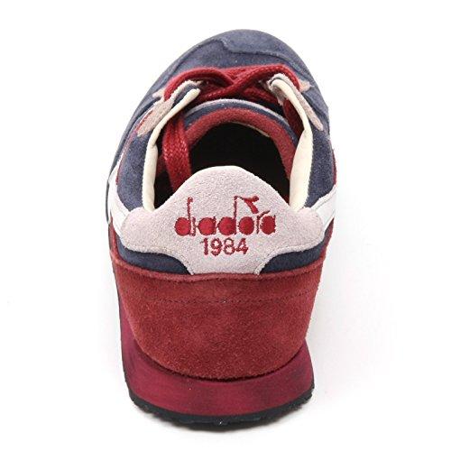 201157664C5953 Diadora Heritage Sneakers Hombre Gamuza Multicolor blu-rosso