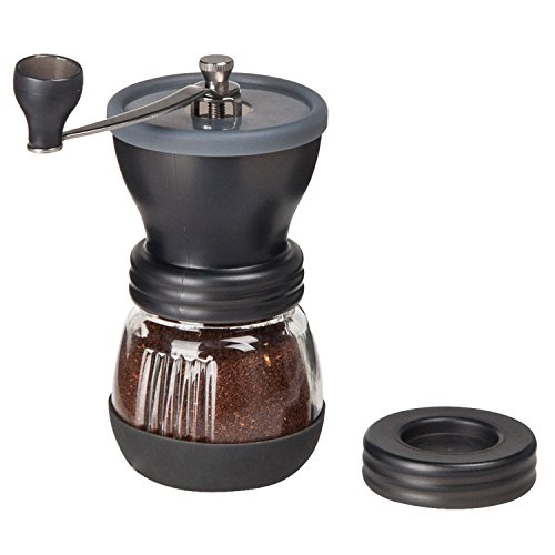 Amazon Lightning Deal 90% claimed: Lychee Manual Ceramic Coffee Grinder High Quality Burr Coffee Grinder Adjustable Coffee Maker With Grinder For Espresso Roasted Coffee Bean Grinder (Black)