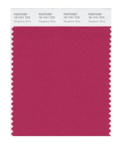 (PANTONE Smart 18-1741X Color Swatch Card, Raspberry Wine)