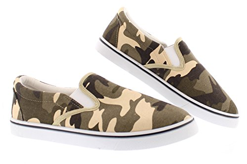 Gold Toe Doug Mens Slip On Shoes Casual,Memory Foam Sneakers for Men,Canvas Shoe,Men's Deck Shoes,Skate Shoes Camouflage 9.5W US by Gold Toe (Image #7)