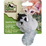 Our Pets Play-N-Squeak Backyard Juguete para Gato, Mapache, Raccoon, Una Talla