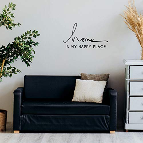 (Vinyl Wall Art Decal - Home is My Happy Place - 12
