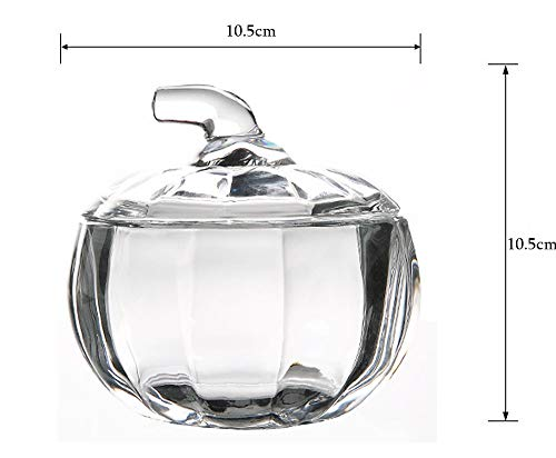 MISS TUTU Pumpkin Shape Crystal Glass Snack Jar Sugar Pot Storage Lid by MISS TUTU (Image #1)