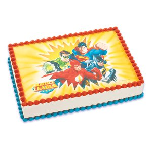 Amazon.com: A Birthday Place Justice League Edible Image: Toys & Games