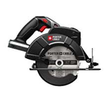 Porter-Cable Bare-Tool Pc18Csl 18-Volt Cordless 6-1/2-Inch Circular-Saw With Laser Guide (Tool Only, No Battery)