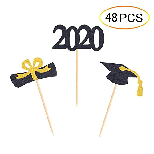 Qibote Graduation Cupcake Toppers
