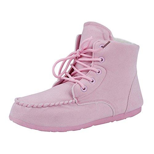 Stiefel Damen Clode® Warmes Schnee Aufladungen der klassischen Frauen beschuht Art und Weisewinter kurze Aufladungen Rosa