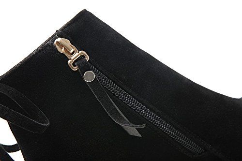 Balamasa Girls Tacchi Chunky Winkle Pinker Zipper Boots Glassati Neri