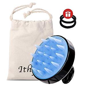 Ithyes Shampoo La brosse en silicone Le masseur du cuir chevelu La brosse à cheveux mouillés et secs La peigne en…