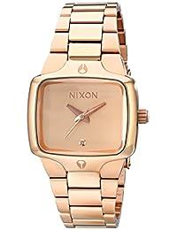 Nixon Women's NXA300897 Classic Analog Rectangle Gold Dial Watch