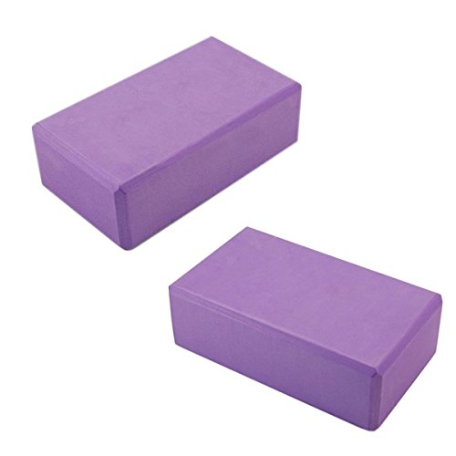 2 x Props Foaming Foam Brick Block Yoga 9''X6''X3'' Home Health Gym Exercise Sport Tool by Sattaya