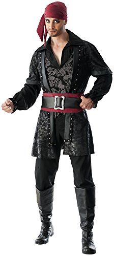 Pirates Of The Caribbean Costumes For Couples - Rubie's Men's Black Beard Costume, Multicolor,